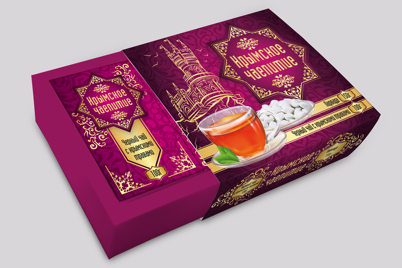 Дизайн коробки сувенирной  чай+парварда (подарочный набор) фото f_7775a59203c18939.jpg