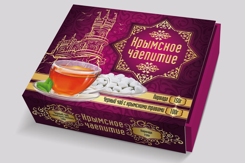 Дизайн коробки сувенирной  чай+парварда (подарочный набор) фото f_7995a59204543592.jpg
