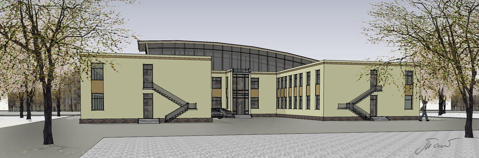 Эскизный проект общественного здания. Петербург.
