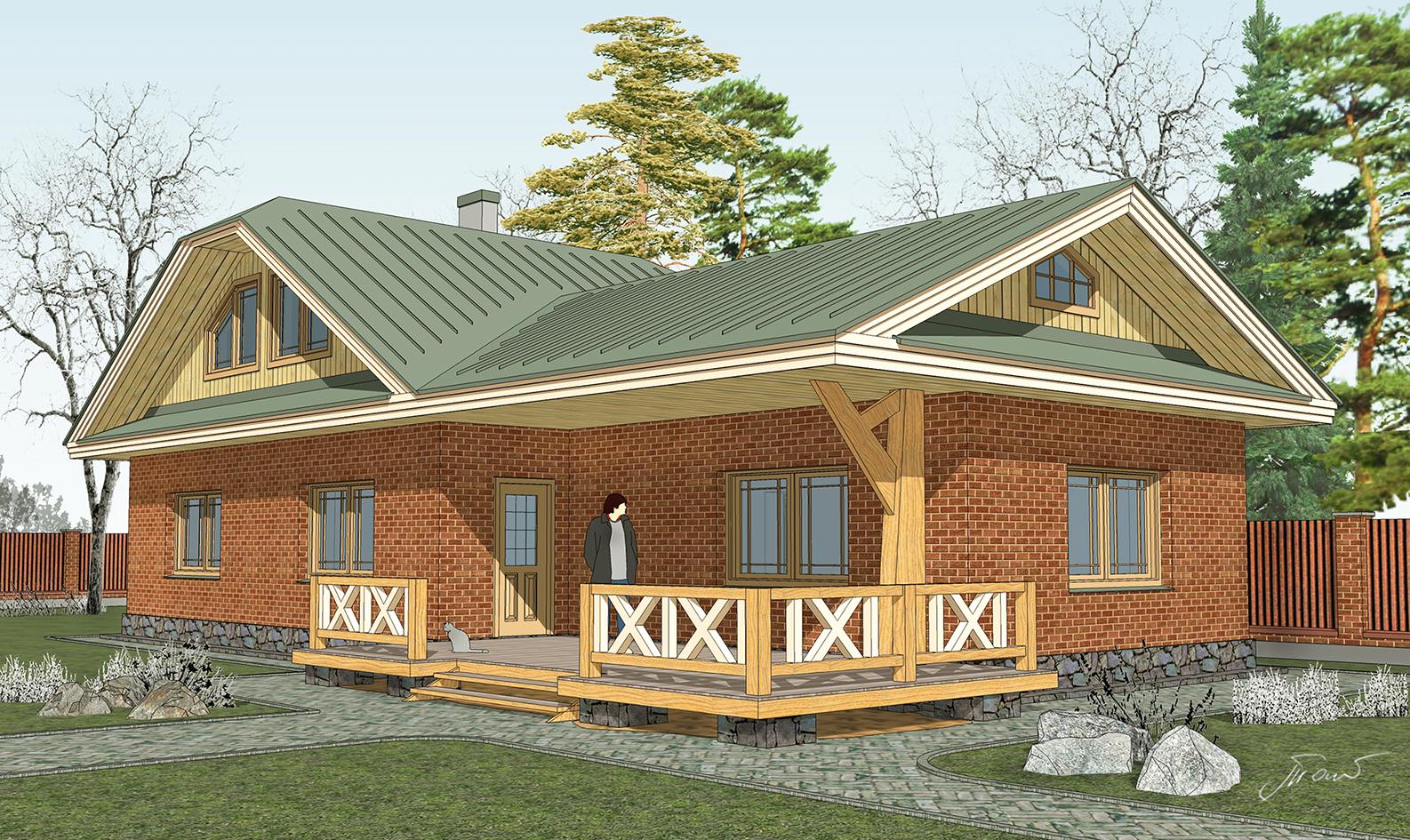 Индивидуальный жилой дом на Карельском перешейке