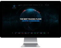 Landing page по торговли криптовалюты