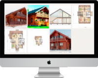 Найти проекты домов из бруса, бревна и пеноблока (больше 150 шт.)