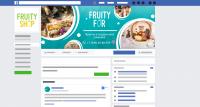Оформление группы в ВК и ФБ для магазина экзотических фруктов