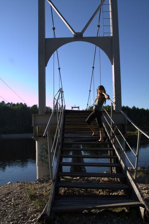 Лестница на мост