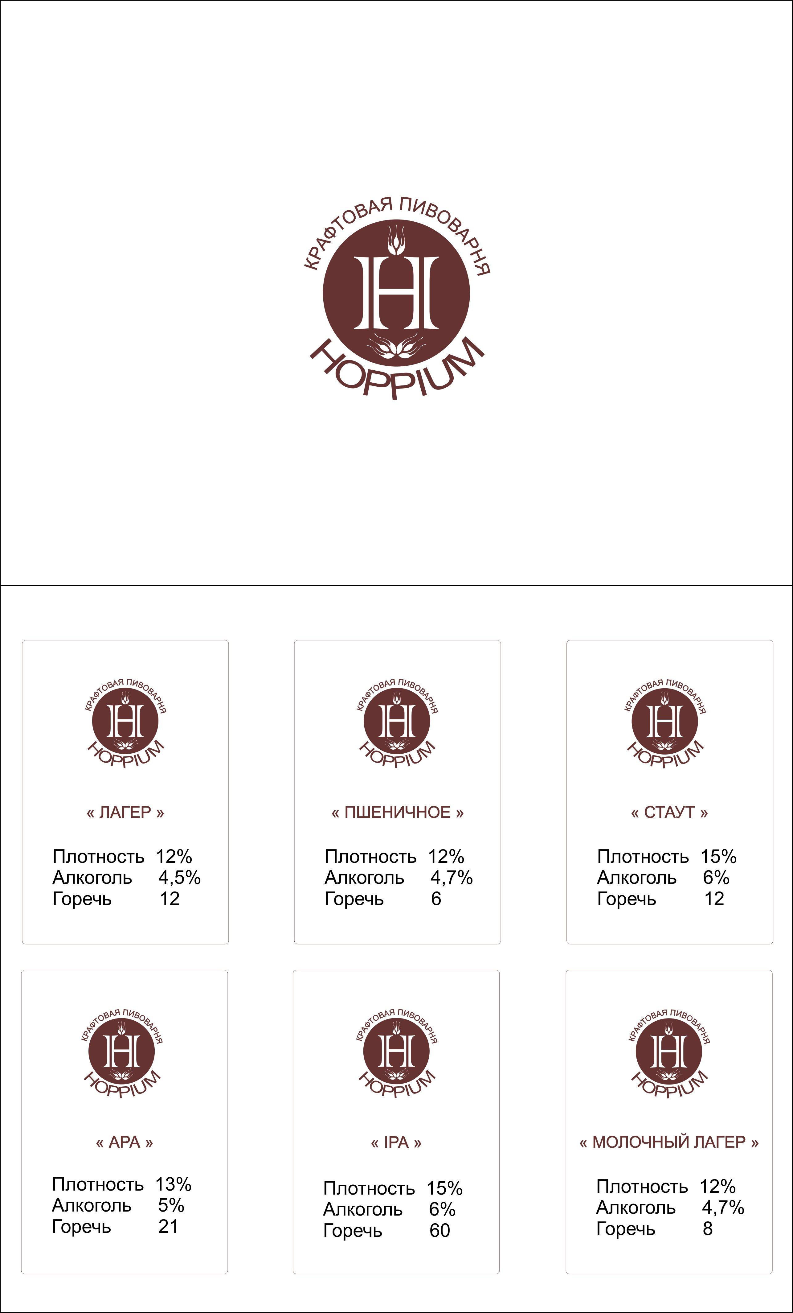 Логотип + Ценники для подмосковной крафтовой пивоварни фото f_3785dc71e1e86f94.jpg