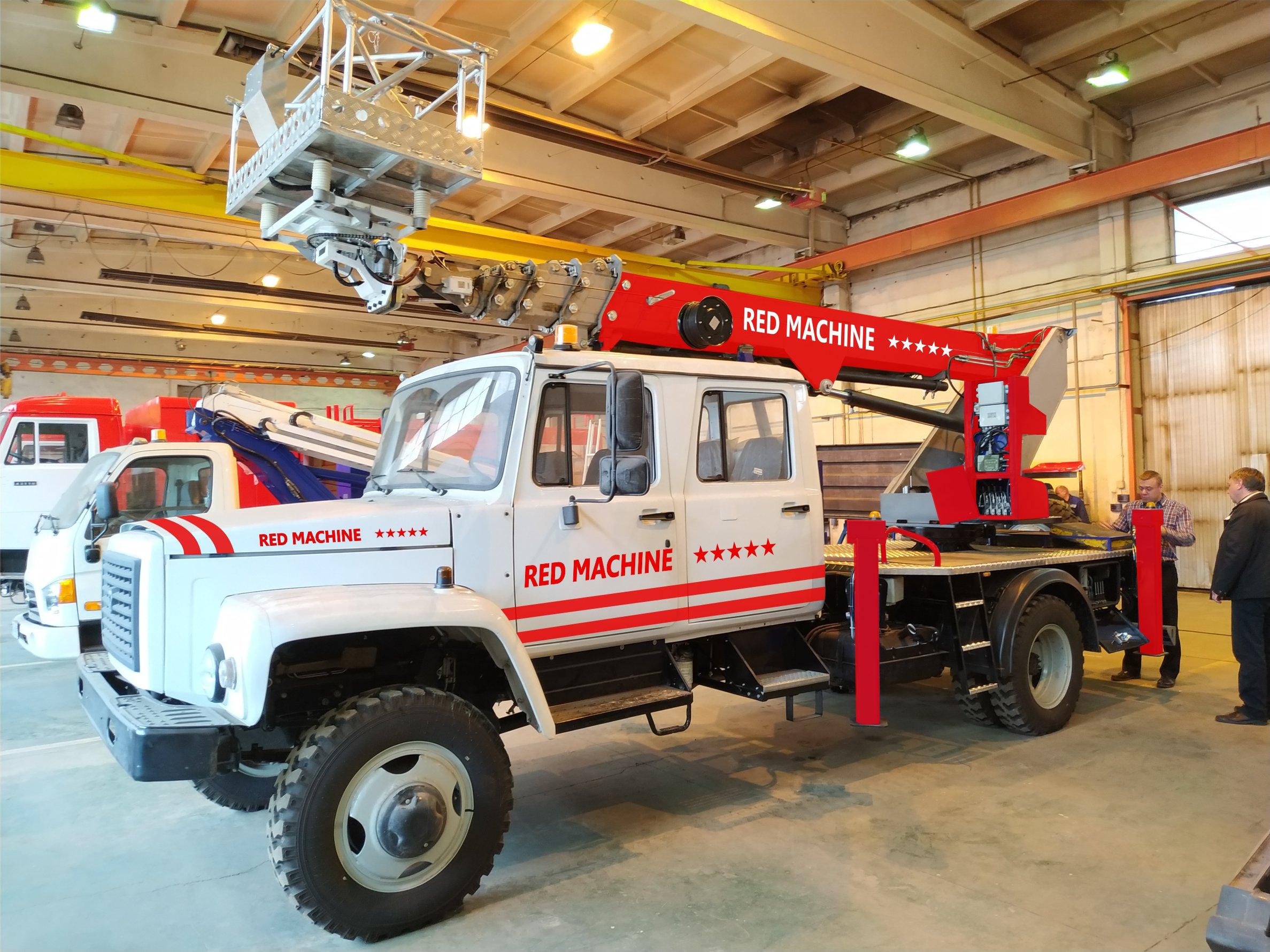 Оформление автогидроподъёмника,  бренд - RED MACHINE фото f_6415e1792b8092a2.jpg