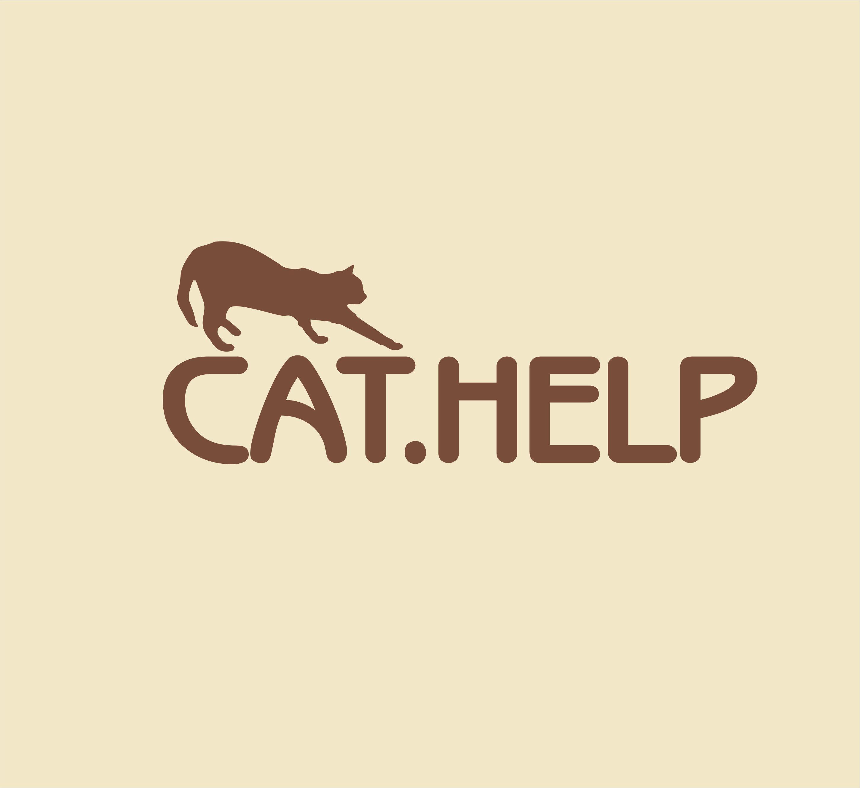 логотип для сайта и группы вк - cat.help фото f_22359d9cd3ce200d.jpg