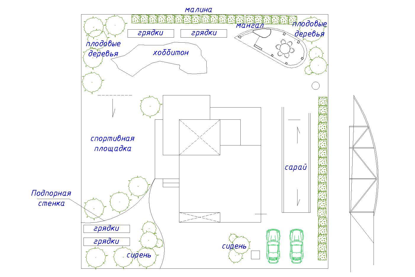 Ландшафтный дизайн участка 10 соток фото f_9505981756d2fd84.jpg
