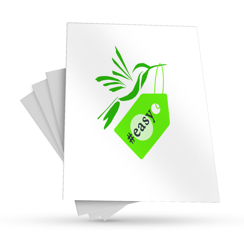 Разработка логотипа в виде хэштега #easy с зеленой колибри  фото f_0745d500551d9bfa.jpg
