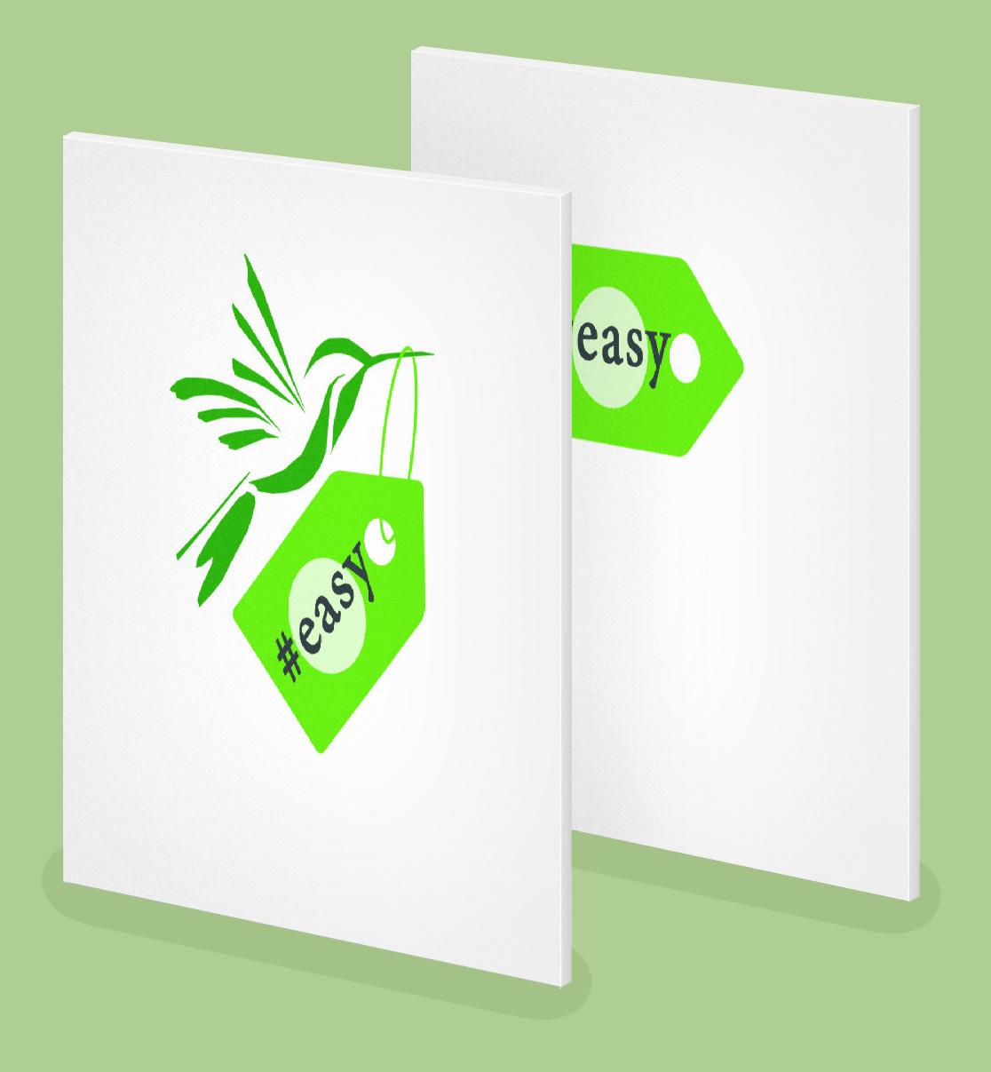 Разработка логотипа в виде хэштега #easy с зеленой колибри  фото f_9125d500546caa6b.jpg