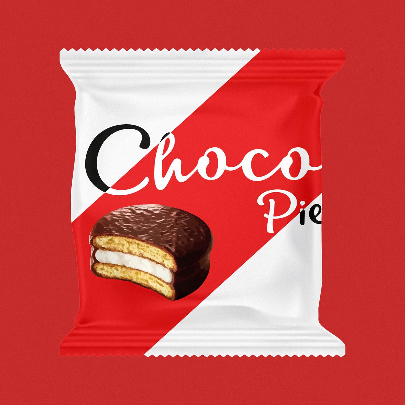 """Дизайн упаковки кондитерских изделий """"Choco Pie"""""""
