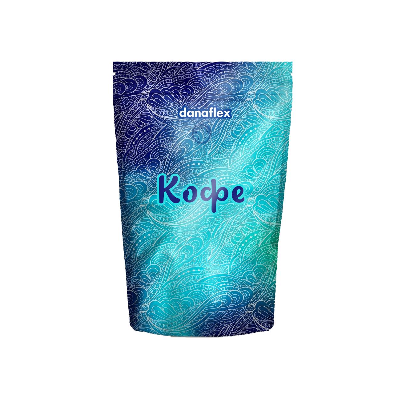 Концепт дизайна упаковки пакета кофе