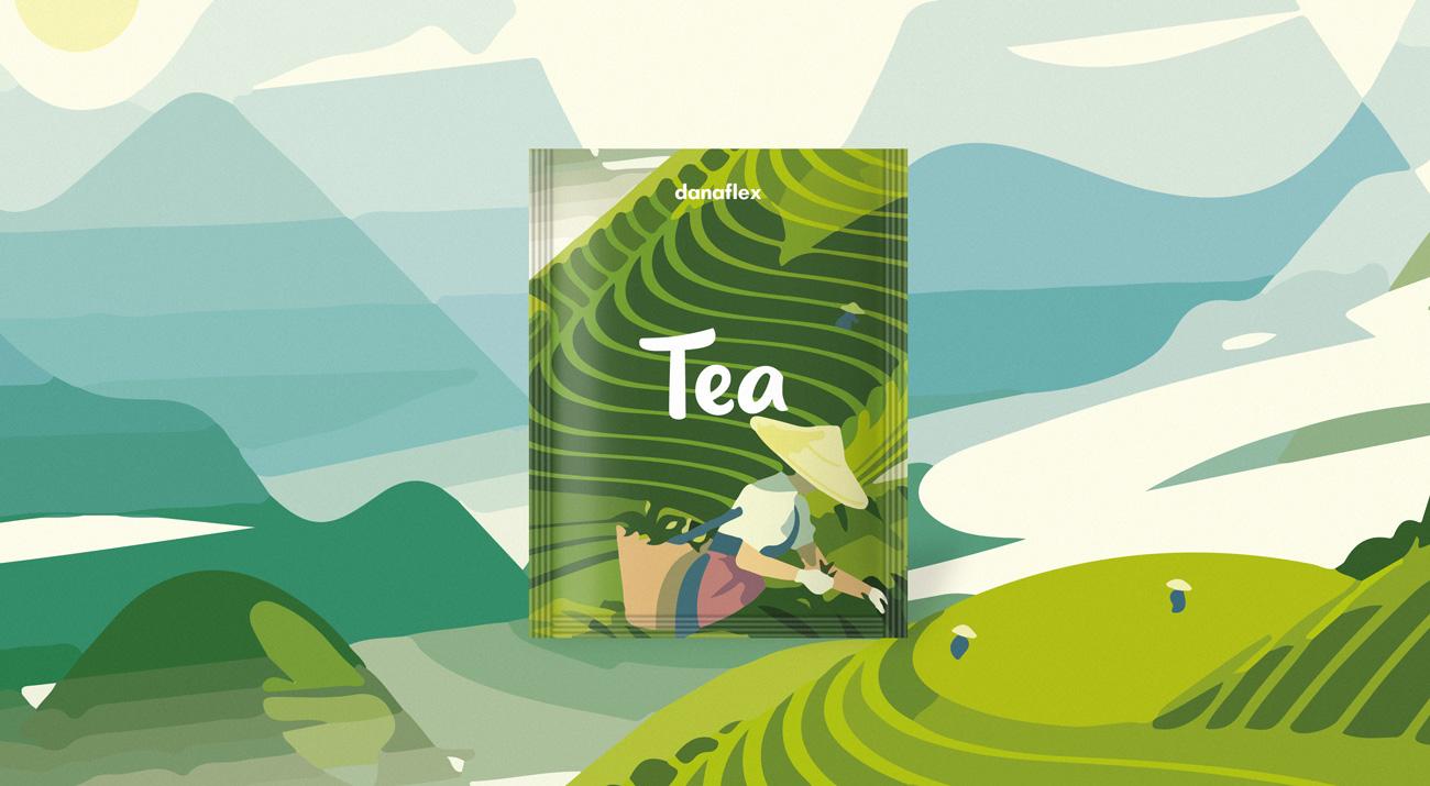 Концепт дизайна упаковки чайного пакетика #1