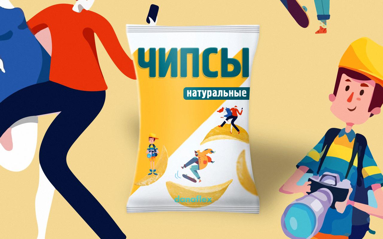 Концепт дизайна упаковок чипсов #1
