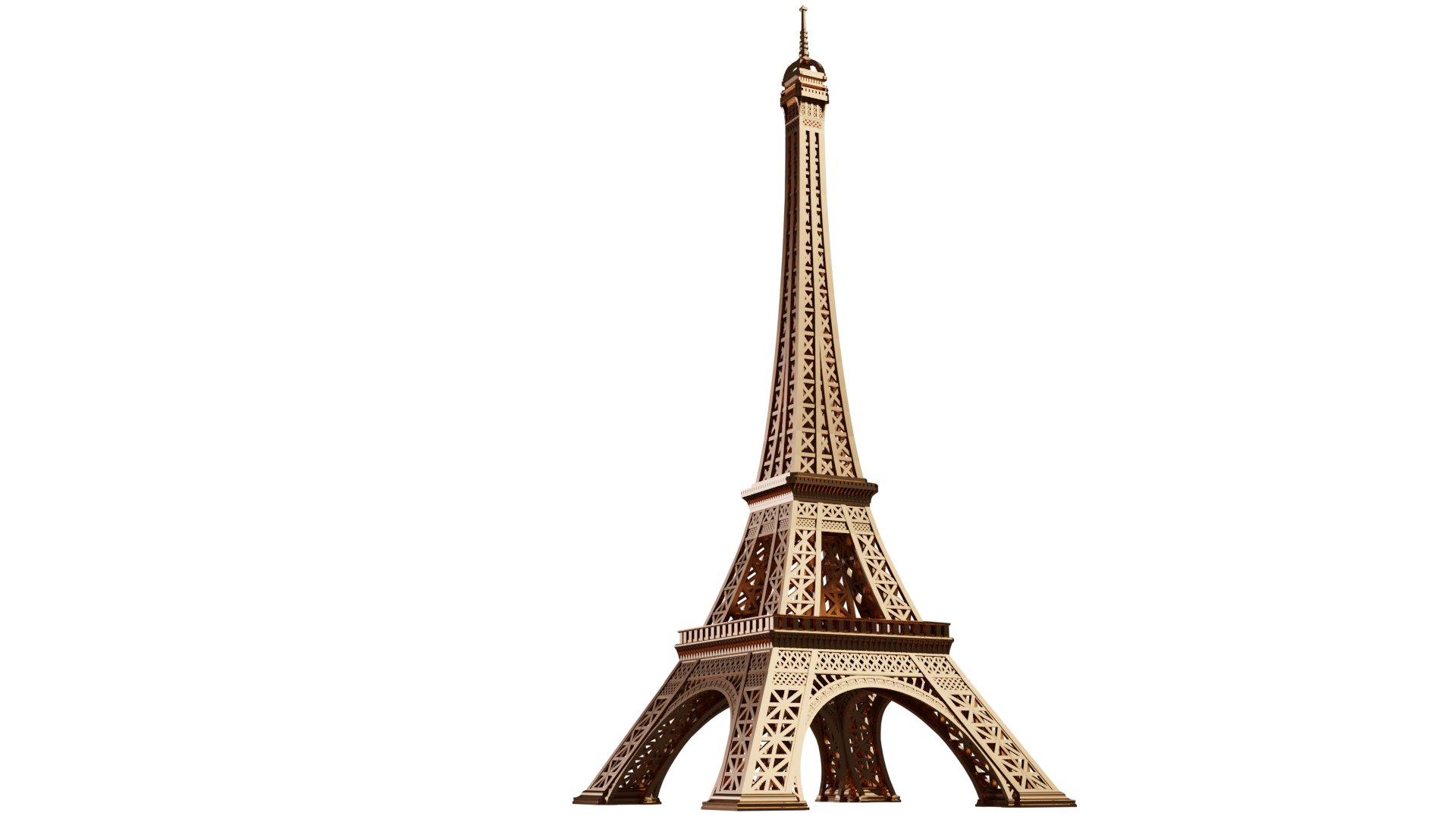 3д модель Эйф. башни