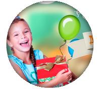 Landing page компании по организации детских праздников