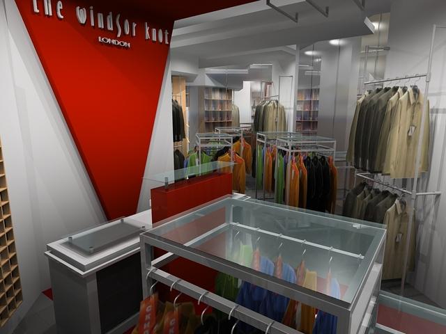 Дизайн-проект интерьера магазина классической мужской одежды Windsor.