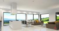 Квартира-студия в Швейцарии с панорамным остеклением