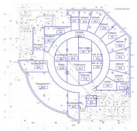 Планировка офисного пространства | 500 м2 | Москва