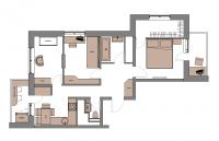 3 комн. квартира | 60 м2