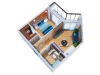 Квартира, вид сверху