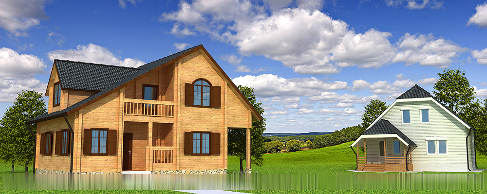 2 дома для сайта