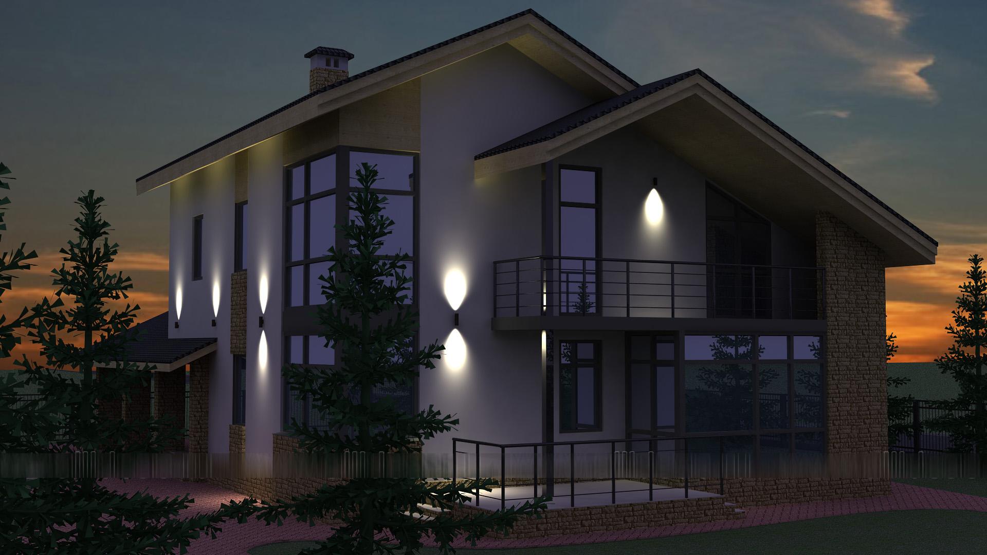 Архитектурное освещение подсветка фасада