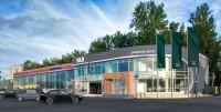 Дизайн и визуализация фасада дилерского центра УАЗ