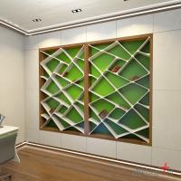 Книжный шкаф в детской. Светодиодный плинтус