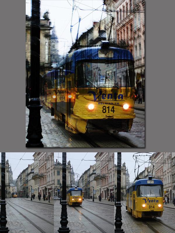 Фотоколлаж: «Мистический трамвай»