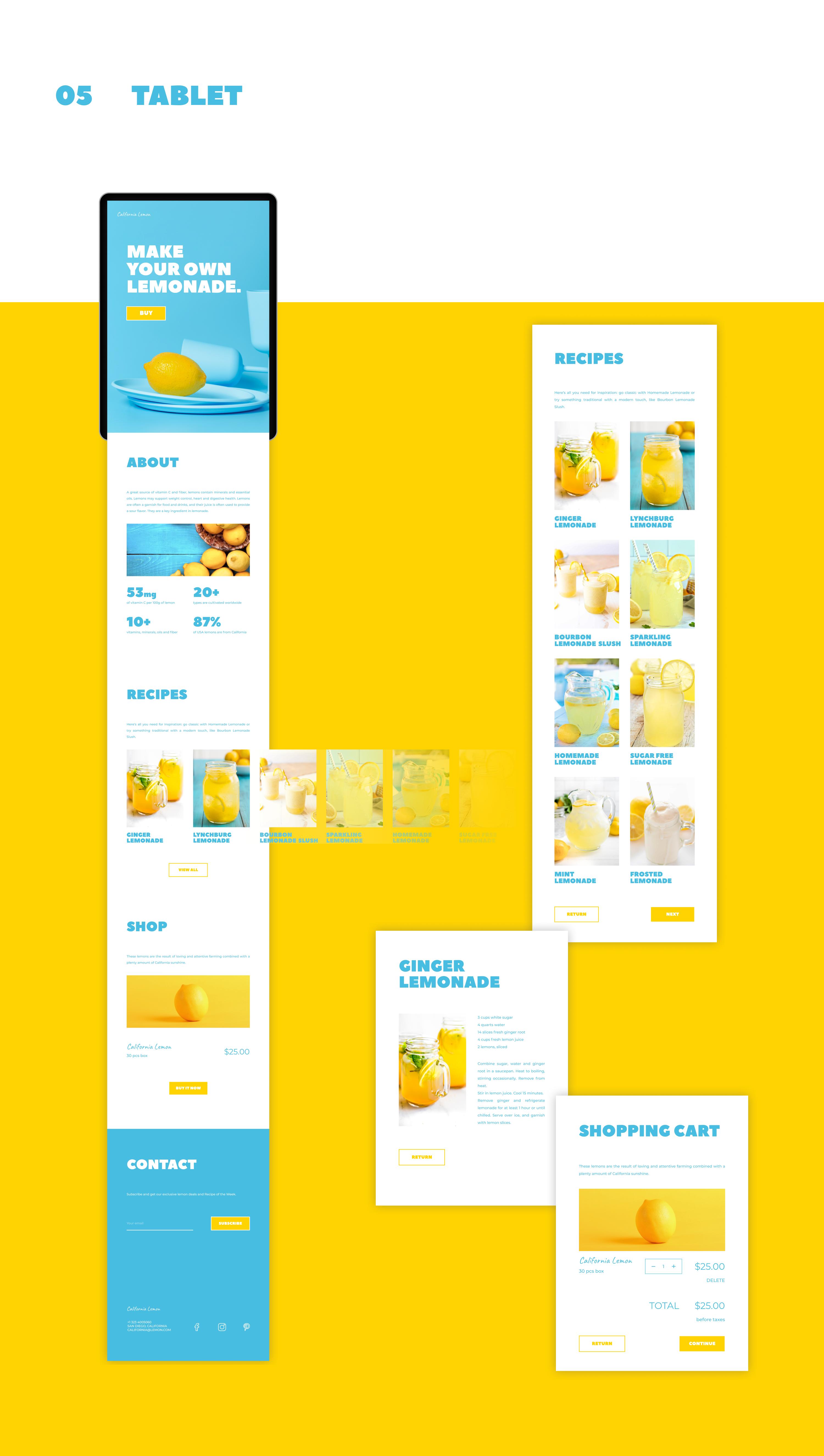 Концепт промостраницы лимона