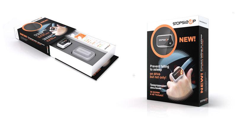 Дизайн упаковки для инновационного прибора STOPSLEEP. 2011