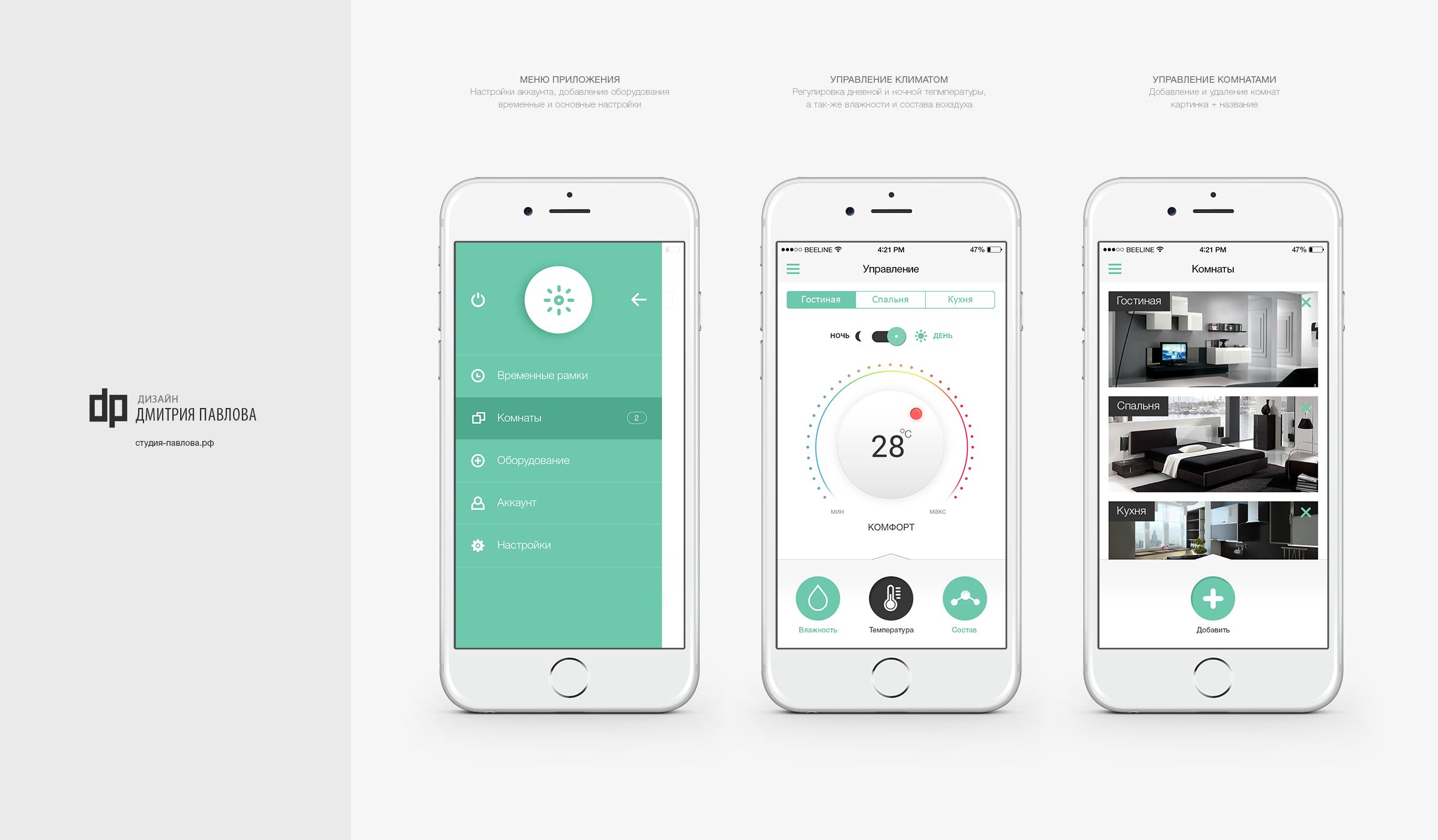 Мобильное приложение: управление климатом в квартире (Сбербанк)