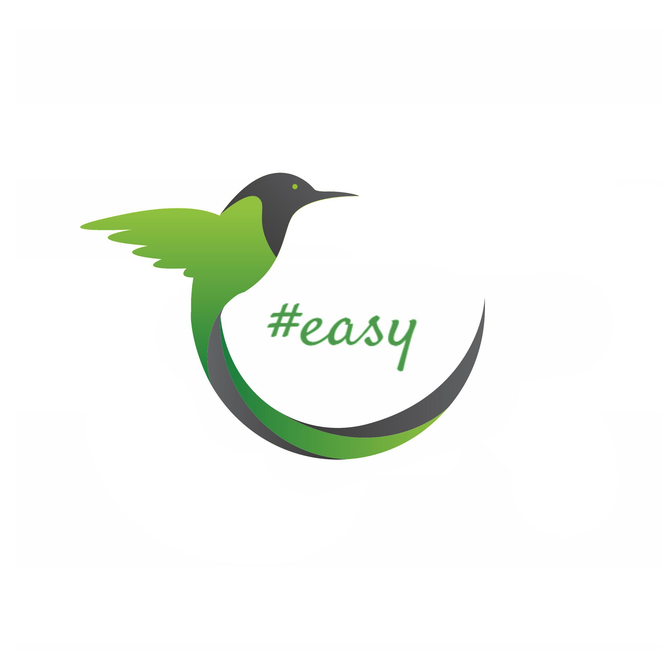 Разработка логотипа в виде хэштега #easy с зеленой колибри  фото f_4575d4e7f792d1a6.jpg