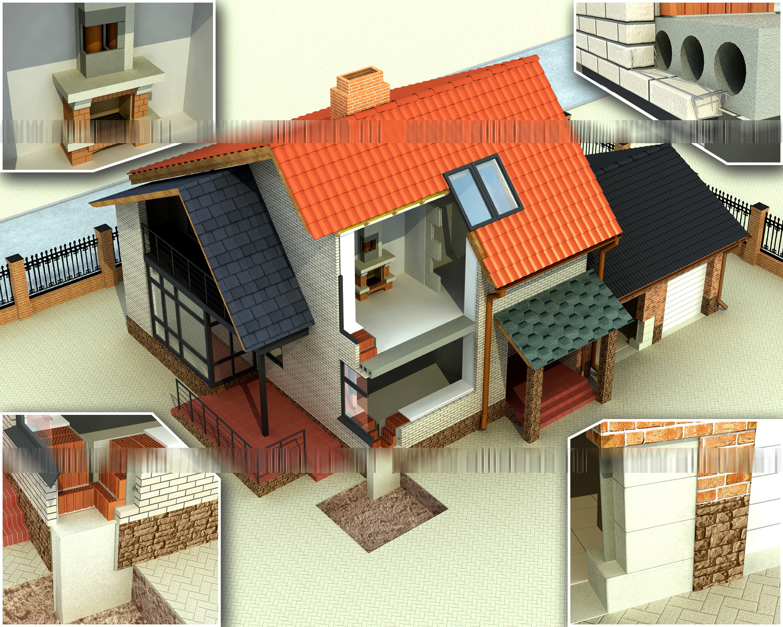 Разрезы дома интерьеры фри лансер