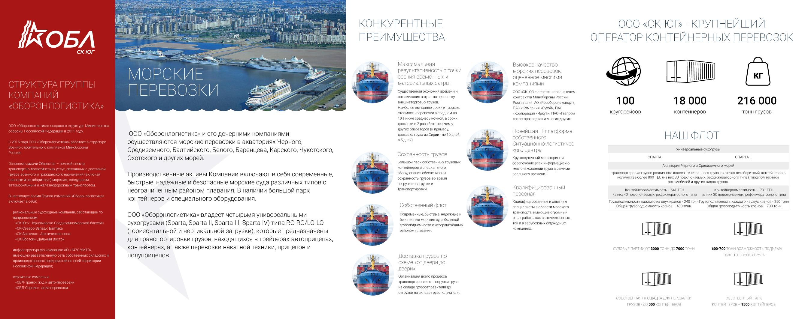 Дизайн и верстка лифлетов 3х дочерних судоходных компаний  фото f_1445b4305d627e5e.jpg