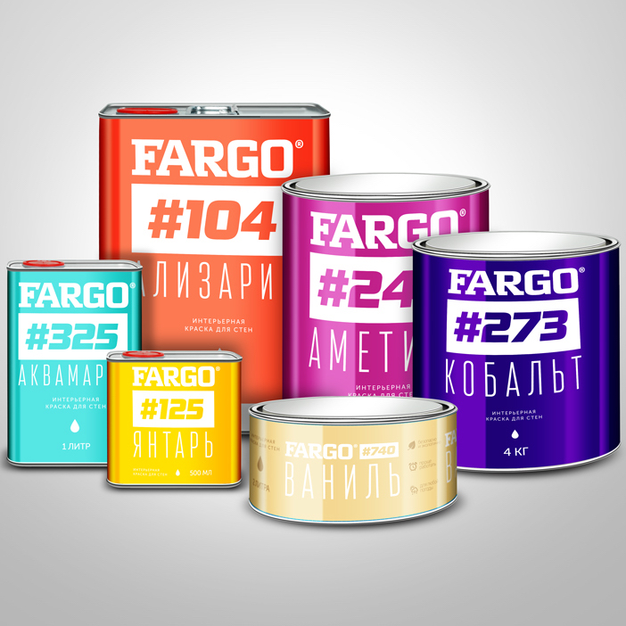 Дизайн этикетки для марки интерьерных красок