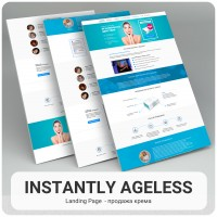 Landing Page  - продажа крема Instantly Ageless