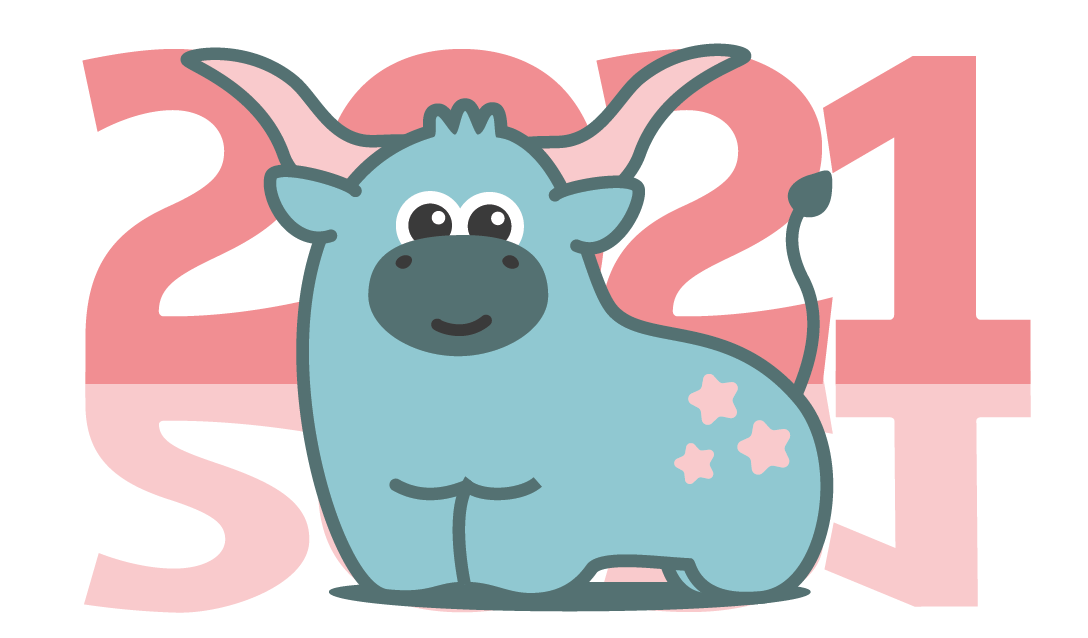 Создать рисунки быков, символа 2021 года, для реализации в м фото f_2005f03217338820.png