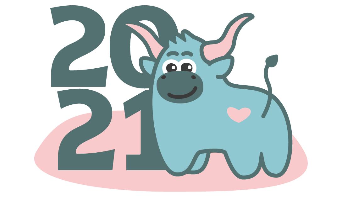 Создать рисунки быков, символа 2021 года, для реализации в м фото f_2095f031fd1badab.png