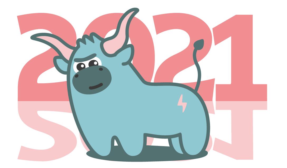 Создать рисунки быков, символа 2021 года, для реализации в м фото f_3375f031fd7aa63d.png