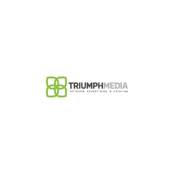 Разработка логотипа  TRIUMPH MEDIA с изображением клевера фото f_506ea931c5063.jpg