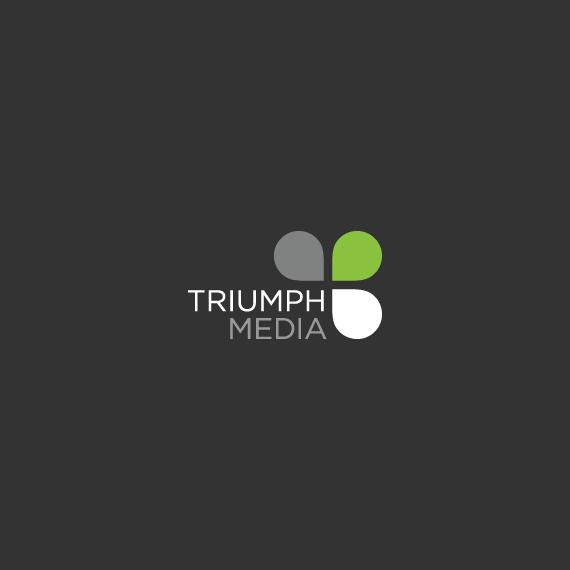 Разработка логотипа  TRIUMPH MEDIA с изображением клевера фото f_506f9527e4a0b.jpg