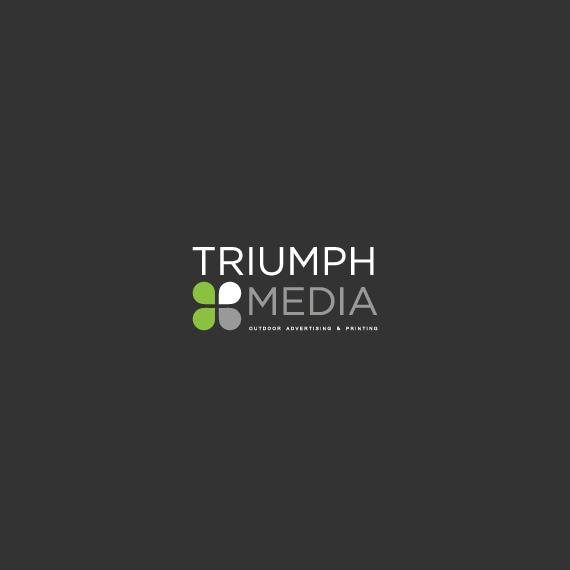 Разработка логотипа  TRIUMPH MEDIA с изображением клевера фото f_506f9f3ace307.jpg