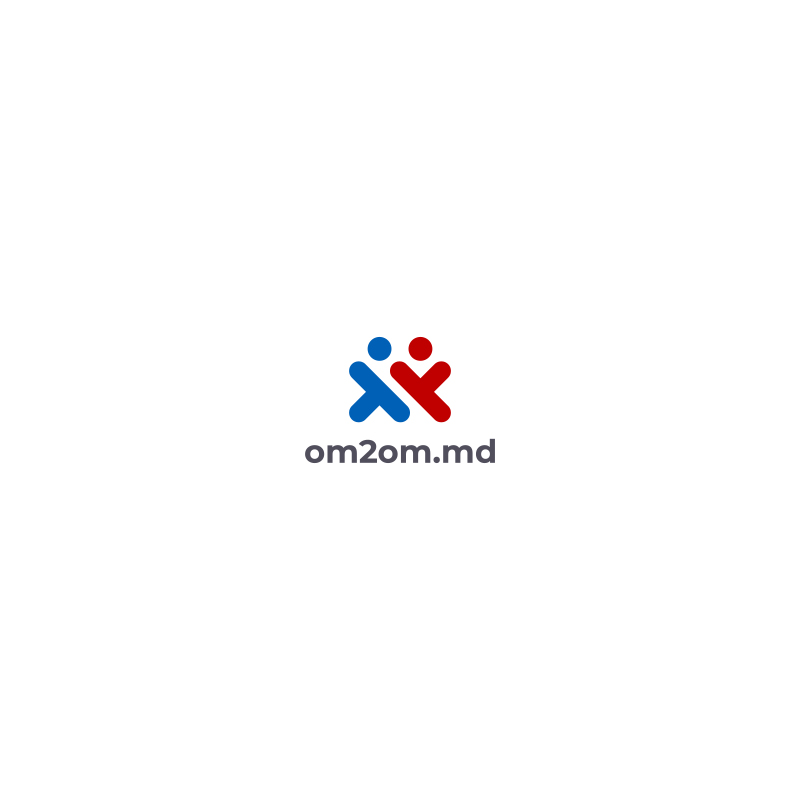 Разработка логотипа для краудфандинговой платформы om2om.md фото f_6815f58b36b8fbaa.jpg