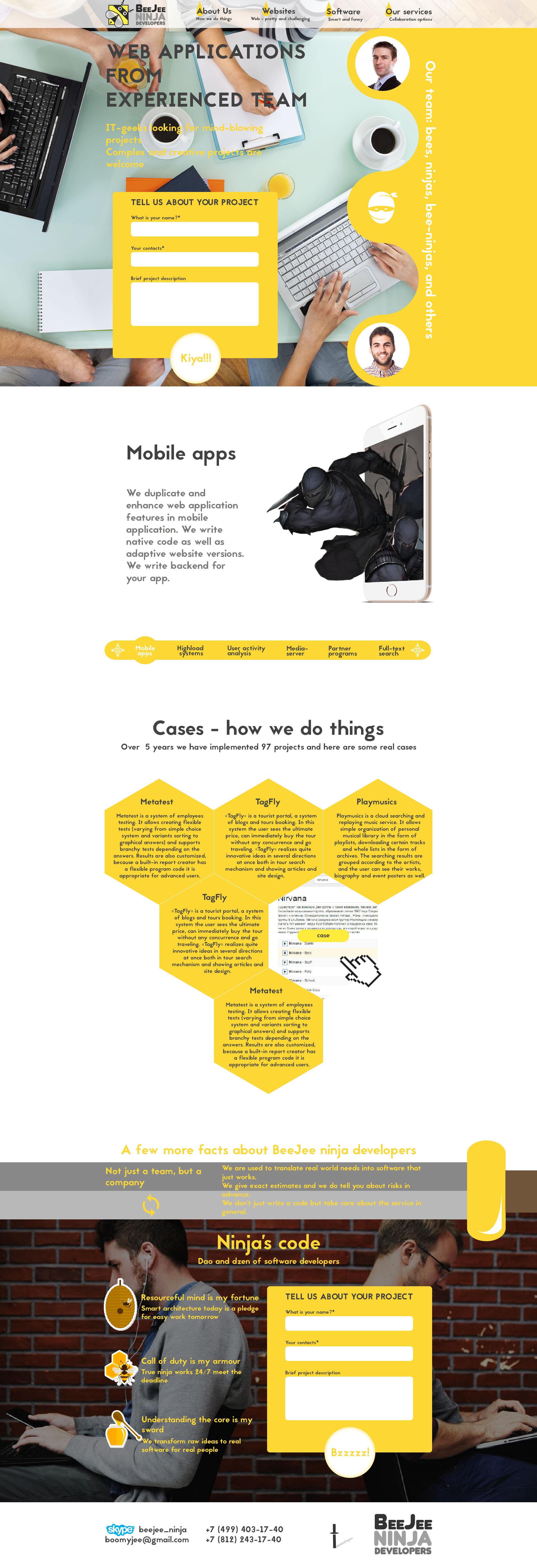 Концепт дизайна сайта в корпоративном стиле для IT компании фото f_9445958f3609c59c.jpg