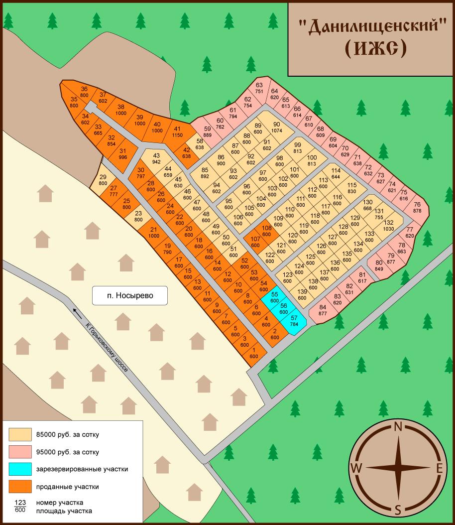Карта-план посёлка