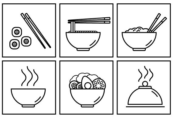 Иконки Японская кухня