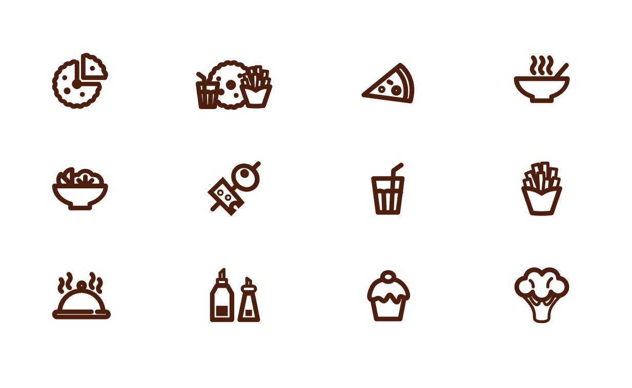 Иконки для интернет-магазина еды