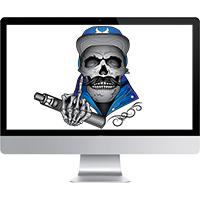Отрисовка черепа для vape-магазина